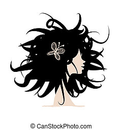 Woman head for your design