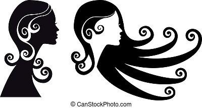 woman heads