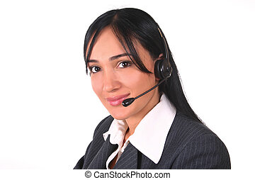 Woman headset-chair