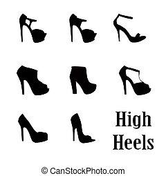 woman high heel shoe illustration vector format
