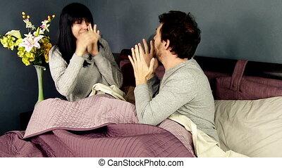 Woman hitting boyfriend
