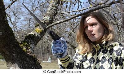 woman hobby garden spring