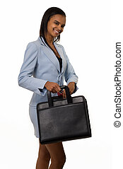 Woman holding a briefcase