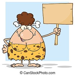 Woman Holding A Wooden Board