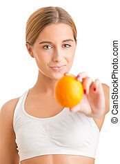 Woman Holding An Orange