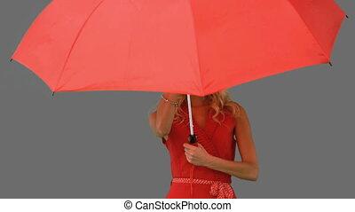 Woman holding an umbrella