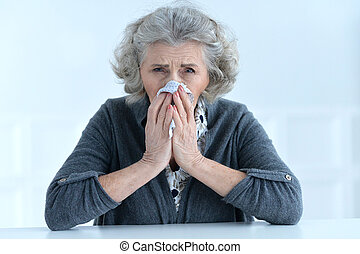 woman holding handkerchief