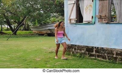 woman house architecture Nicaragua - native Nicaraguan woman...