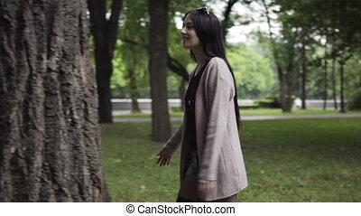 Woman hugging big tree - Woman hugging a big tree, nature...