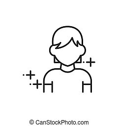 Woman, human avatars icon