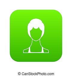 Woman icon digital green