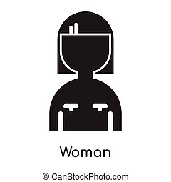 Woman icon isolated on white background