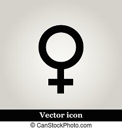 Woman icon on grey background