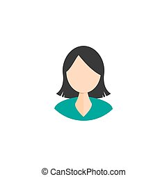 woman icon on white background. vector symbol person