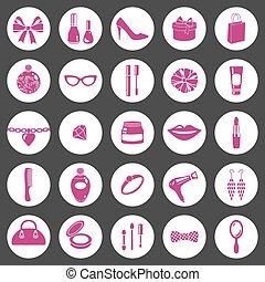 woman icon set.eps
