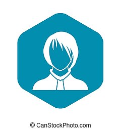 Woman icon, simple style - Woman icon in simple style ...