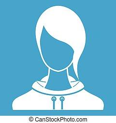 Woman icon white