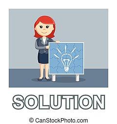 Woman idea puzzle