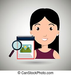 woman images album search vector illustration esp 10