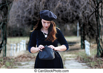 Woman in a beret