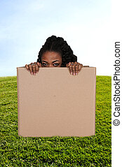 Woman In A Box