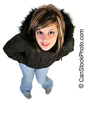 woman in a coat