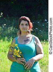 Woman in a meadow