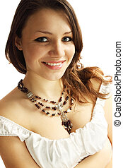 woman in a necklace