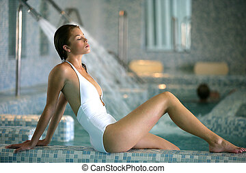 woman in a spa center