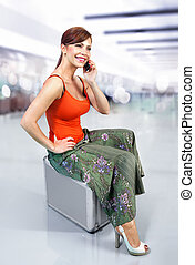 woman in airport l