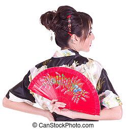 woman in Asian costume