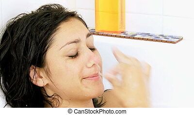 woman in bath tub stopping to cry