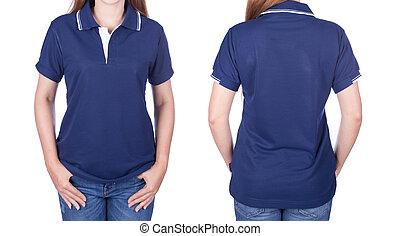 Blue Polo Shirt Mock Up Blank Polo Shirt Mock Up Template