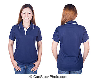 6205335c Blue polo shirt mock up. Blank polo shirt mock up template, front ...