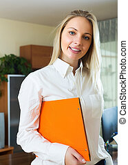 Woman in business outfit