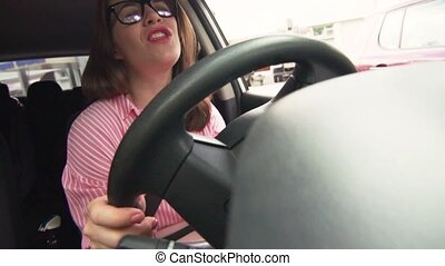 Woman In Car Sings And Dances To Favorite Song - Funny...