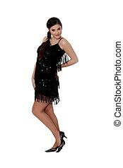 Woman in dance dress
