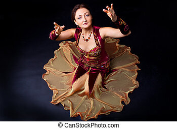 woman in dance look at you