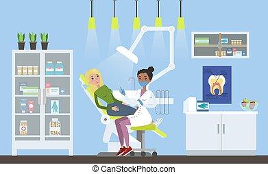 Woman in dental clinic
