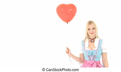 Woman in Dirndl with Balloon