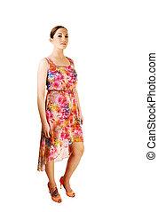 Woman in dress.