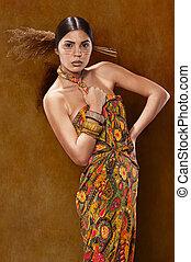 Woman in ethnic dress