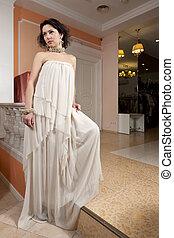 woman in evening dress portrait