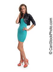 Woman in Fashion Dress