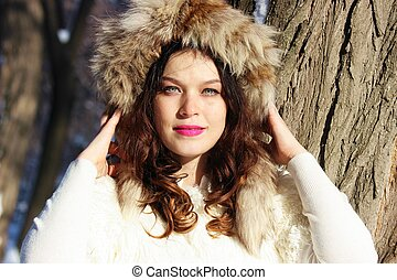 Woman in fur