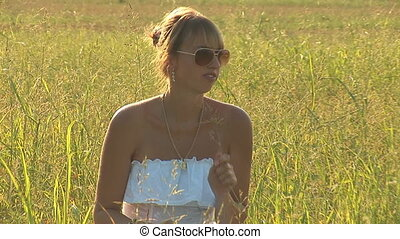 woman in grass a