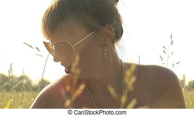 woman in grass b
