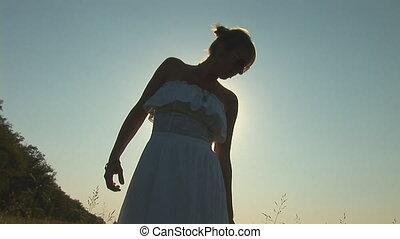 woman in grass e