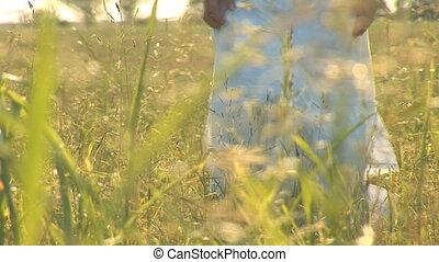 woman in grass f