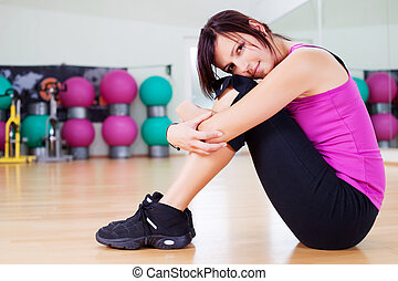 Woman in gym